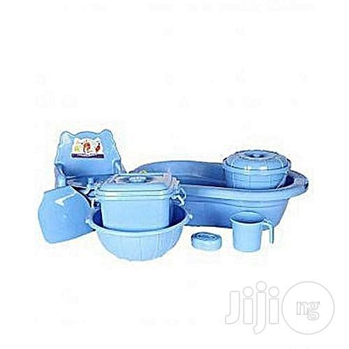 7 Piece Baby Bath Set - Blue