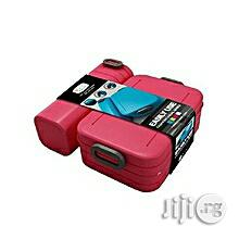 Kid's School Lunch Box With Water Bottle Combo - Pink..