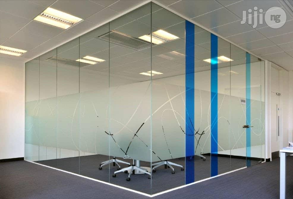 Office Partition With Glass
