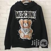 Moschino Safety Pin Bear Cotton Sweatshirt Hoodie | Clothing for sale in Lagos State, Lekki Phase 2