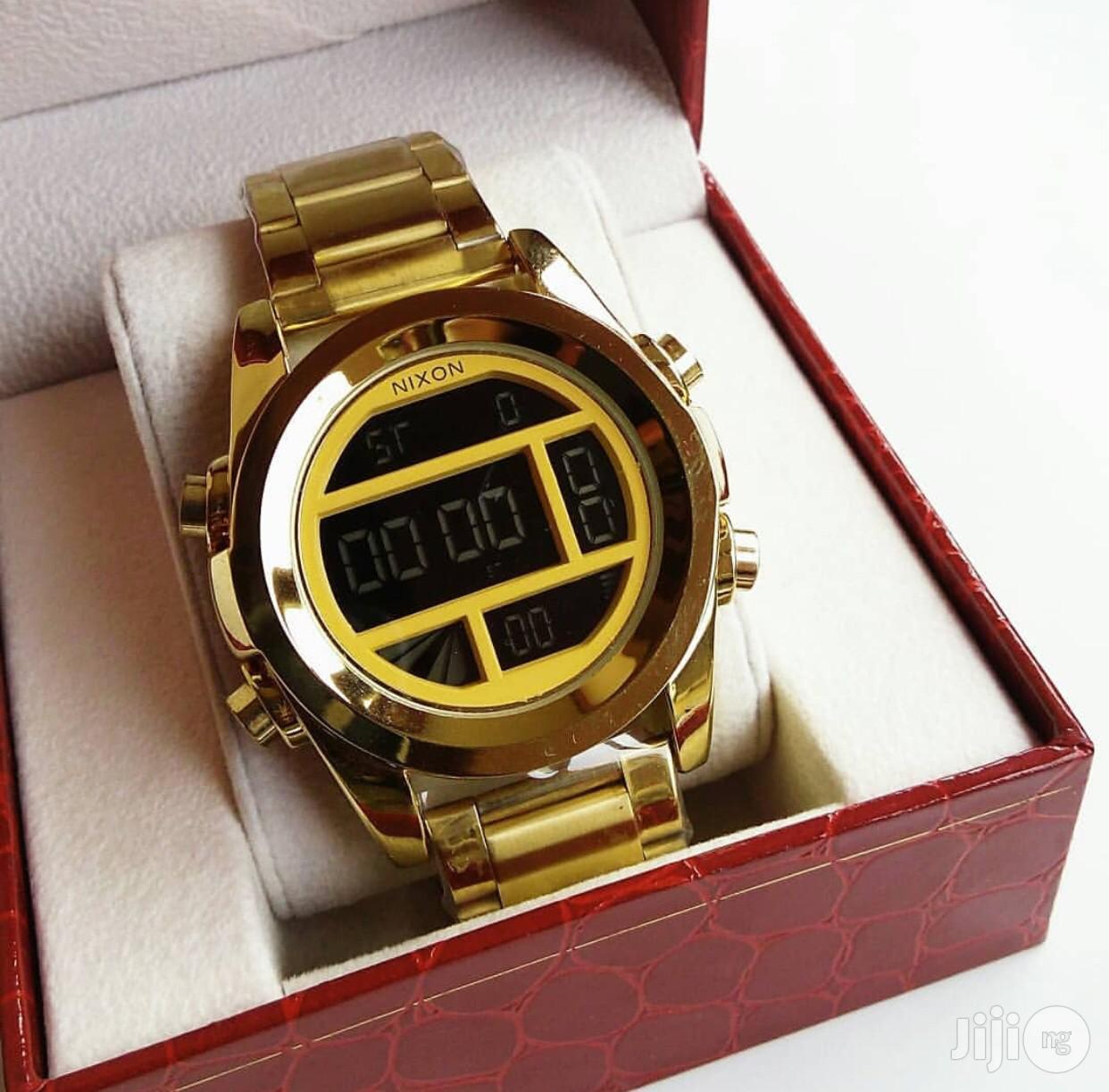 Nixon Gold Digital Watch | Watches for sale in Surulere, Lagos State, Nigeria