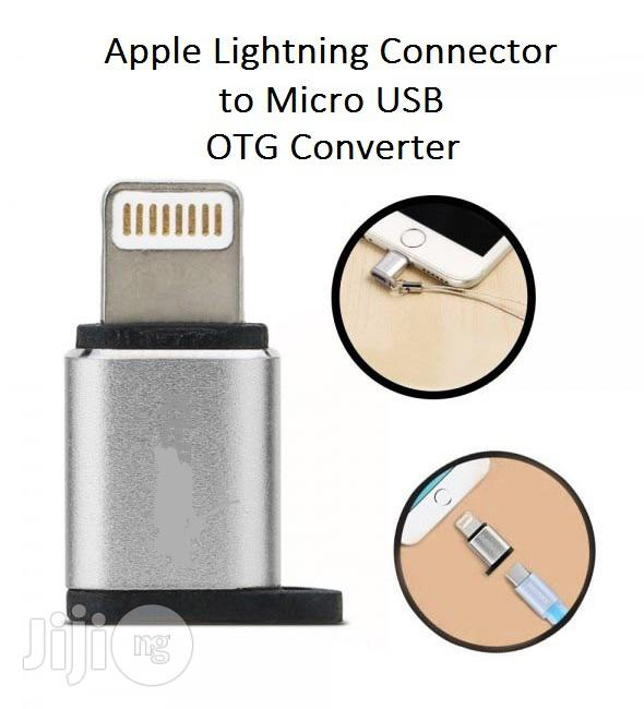 iPhone To Android Micro USB Adapter For Charging & Data Sync | Accessories for Mobile Phones & Tablets for sale in Ikeja, Lagos State, Nigeria