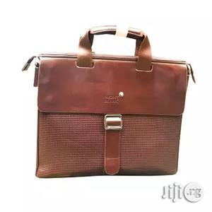 MONT BLANC Men's Leather Conference Bag - Official - Brown | Bags for sale in Lagos State, Lagos Island (Eko)