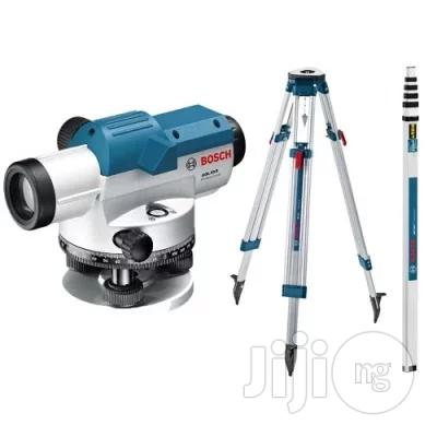 Bosch GOL20DSET Optical Level And BT160 Tripod And GR500 Level Rod