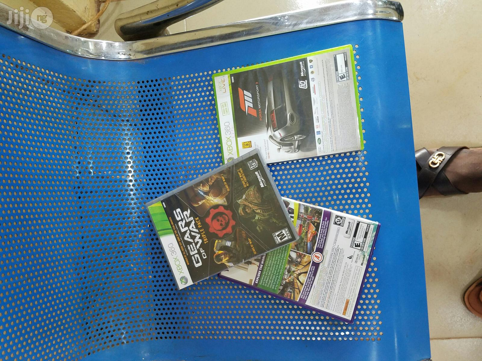 Xbox 360 (128gb) Console With Mic And Game Cds | Video Game Consoles for sale in Enugu, Enugu State, Nigeria