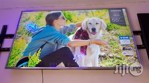 Clean Samsung 55 Inches Smart UHD 4K Led   TV & DVD Equipment for sale in Lagos State, Ojo