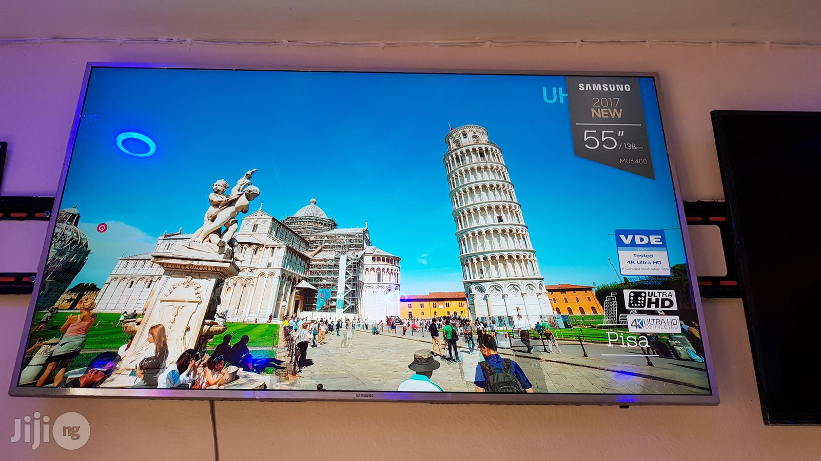 Clean Samsung 55 Inches Smart UHD 4K Led   TV & DVD Equipment for sale in Ojo, Lagos State, Nigeria