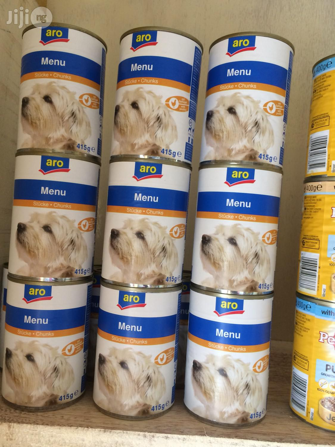 Aro Dog Canned Food in Chunks 24 Cans