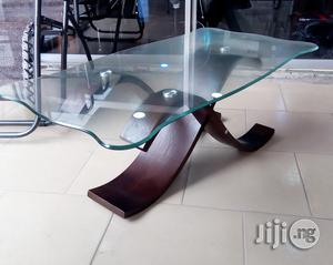 Glass Center Table With Wooden Legi'm | Furniture for sale in Lagos State, Ilupeju