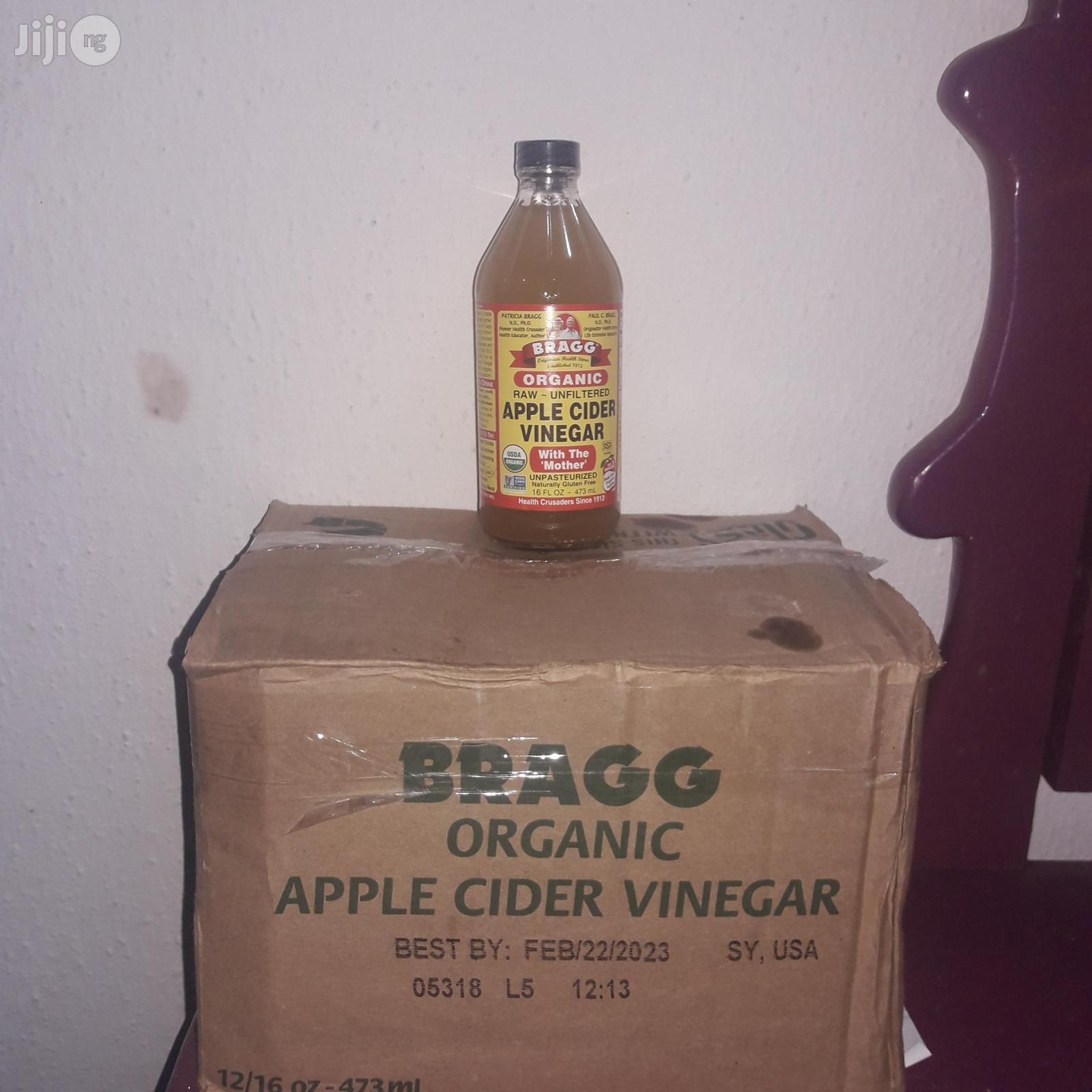 Bragg's Raw Unfiltered Apple Cider Vinegar - 473ml - Carton Of 12 | Meals & Drinks for sale in Alimosho, Lagos State, Nigeria