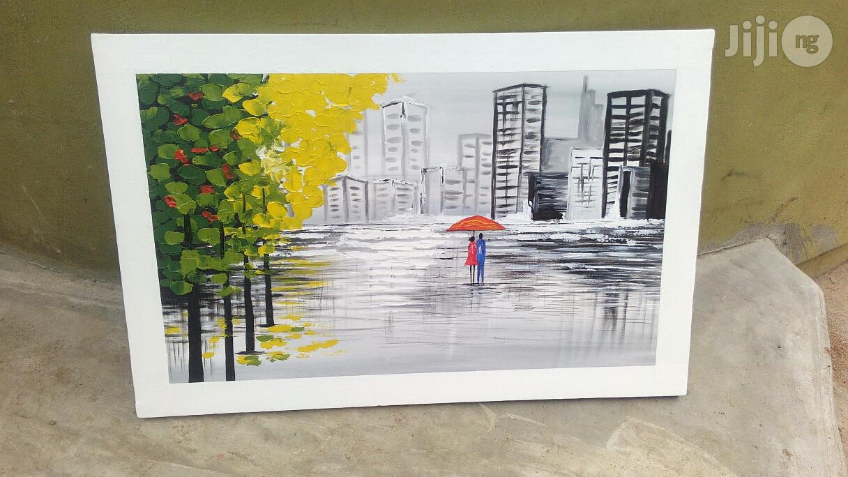 Cool Abstract Lovers In City Scape Paintings | Arts & Crafts for sale in Lekki, Lagos State, Nigeria