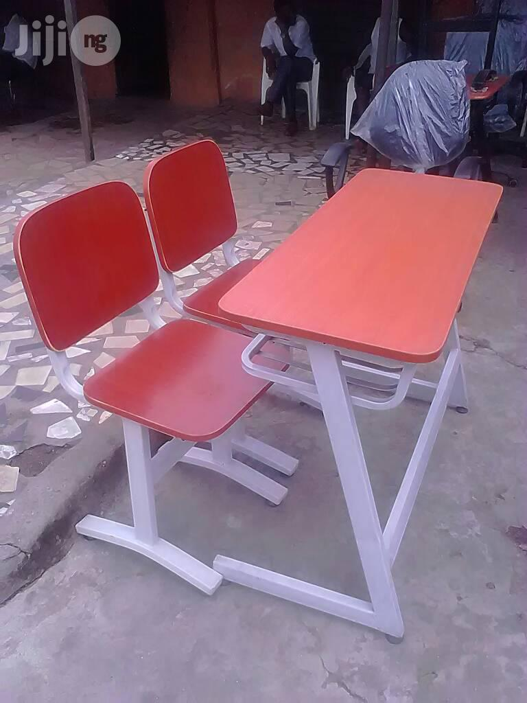 Double Student Chair and Table