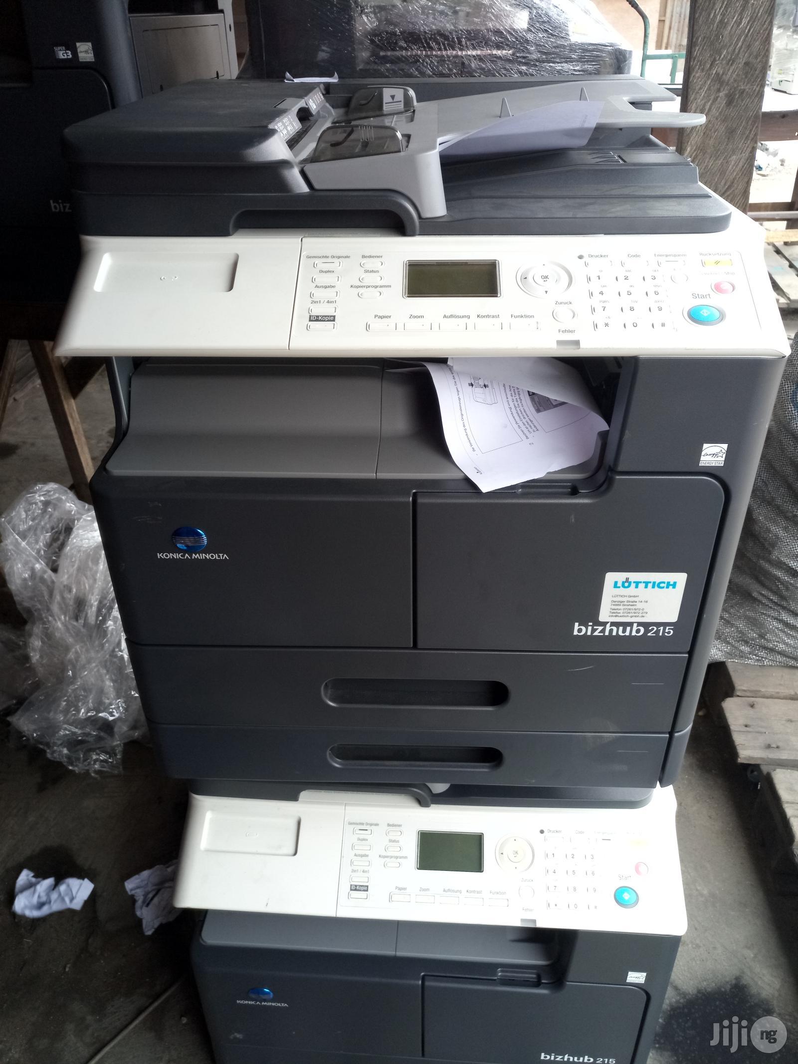 Archive: Konica Minolta Bizhub 215 Photocopier