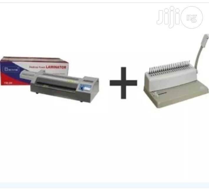 Laminating Machine + Binding Machine