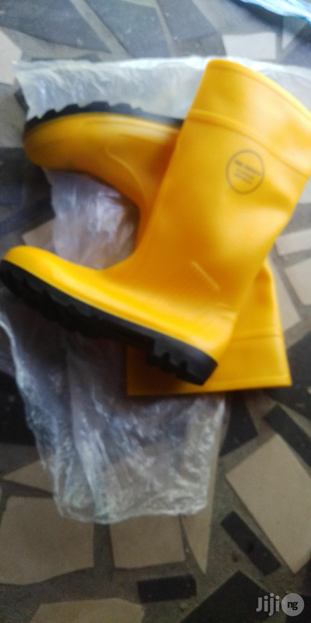 Yellow Safety Rain Boots