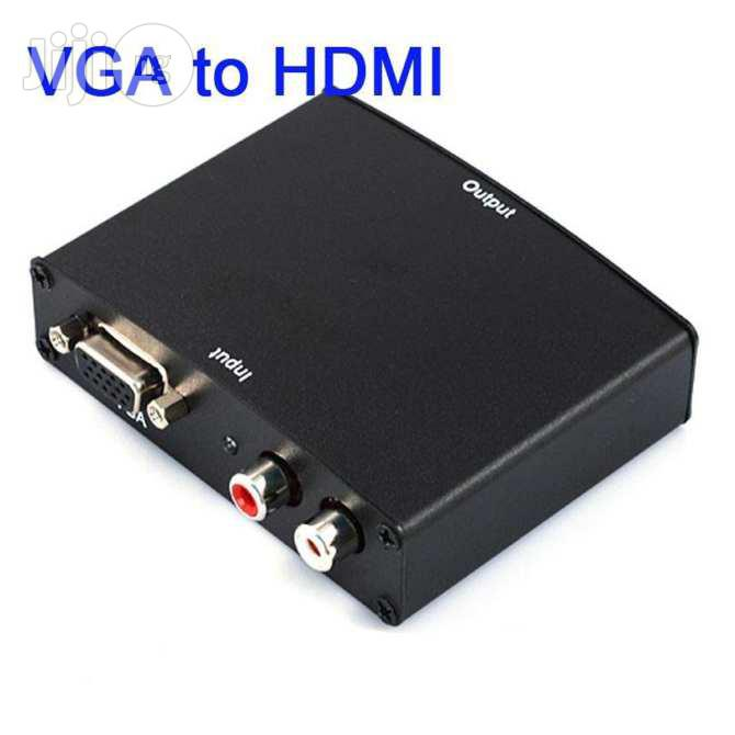 VGA To HDMI PC (Vga) + Audio (L/R) To HDMI Converter | Accessories & Supplies for Electronics for sale in Ikeja, Lagos State, Nigeria