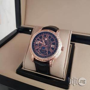 PATEK PHILIPPE Genuine Leather Strap Chronograph Watch | Watches for sale in Lagos State, Surulere