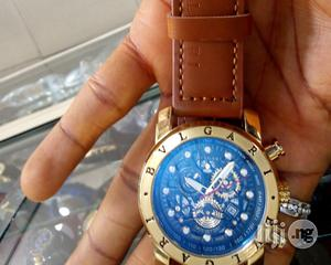 Bvlgari Leather Watch For Men   Watches for sale in Rivers State, Port-Harcourt