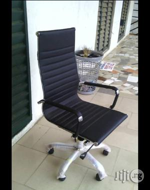 Executive Office Chair Leather Black   Furniture for sale in Lagos State, Yaba
