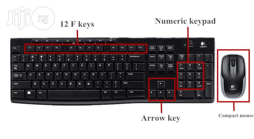 Logitech MK270 Wireless Keyboard And Mouse Combo | Computer Accessories  for sale in Ikeja, Lagos State, Nigeria