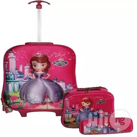 Sofia Loes Kids' Trolley School Bag - Set of 3
