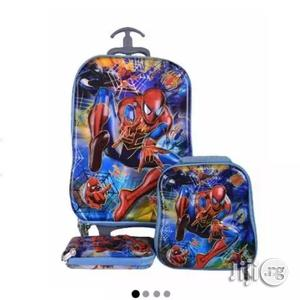 Spiderman Kids Trolley Bag Lunch Box Pencil Case 6-12years | Babies & Kids Accessories for sale in Lagos State, Amuwo-Odofin