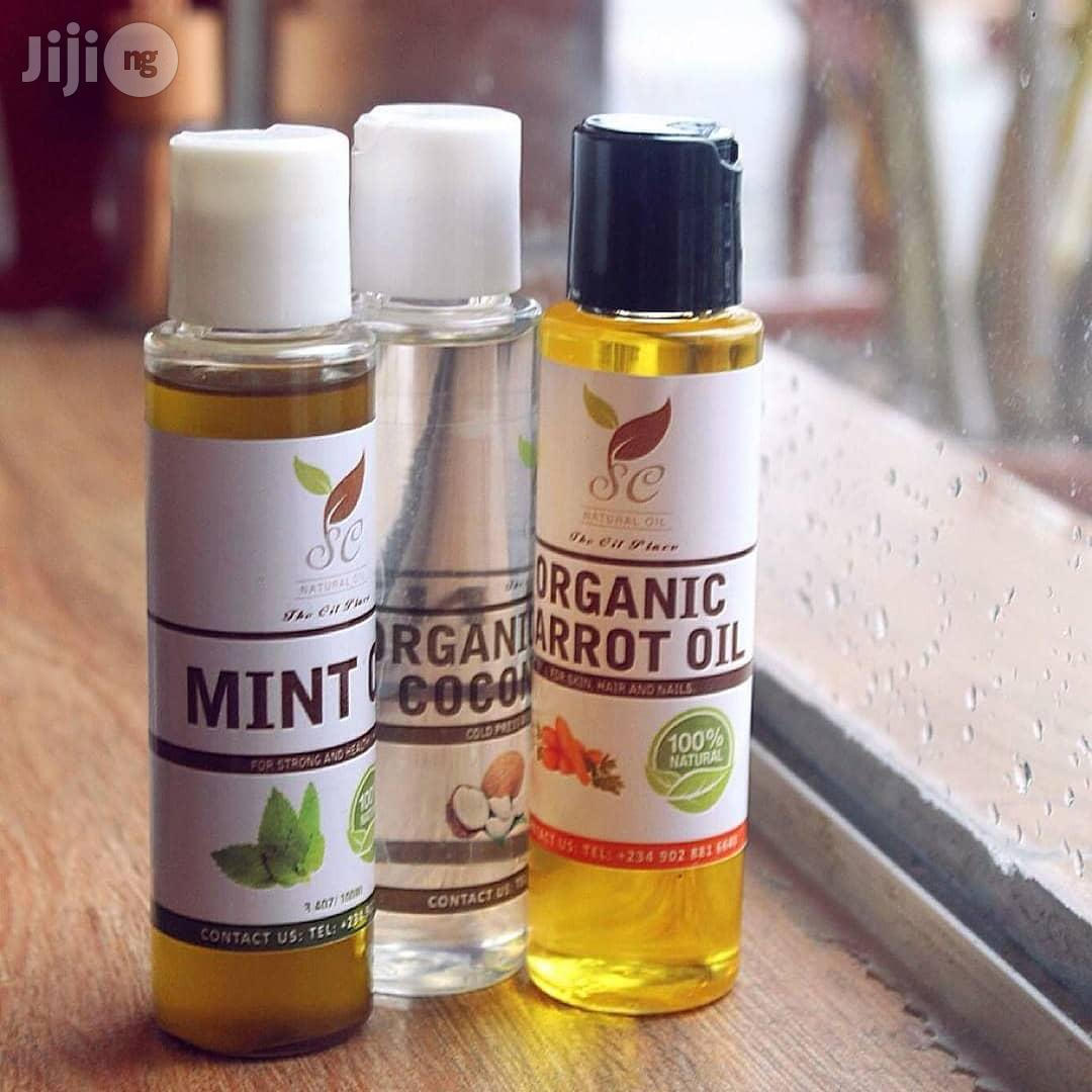 Carrot Oil, Mint Oil, Tumeric Oil And Coconut Oil For Sale | Skin Care for sale in Surulere, Lagos State, Nigeria