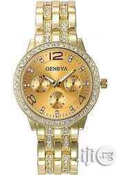 Geneva Classy Bracelet Wrist Watch - Gold | Jewelry for sale in Lagos State, Agege