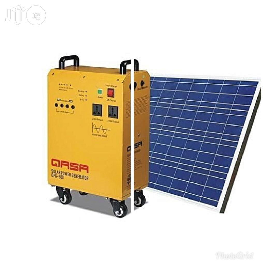 Archive: QASA AC/DC Mobile Inverter Solar Power Generator QPG-500. Hybrid