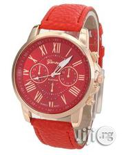 Geneva 9701 White, Blue, Green, Red, And Brown Leather Wrist Watch | Watches for sale in Lagos State, Ikeja