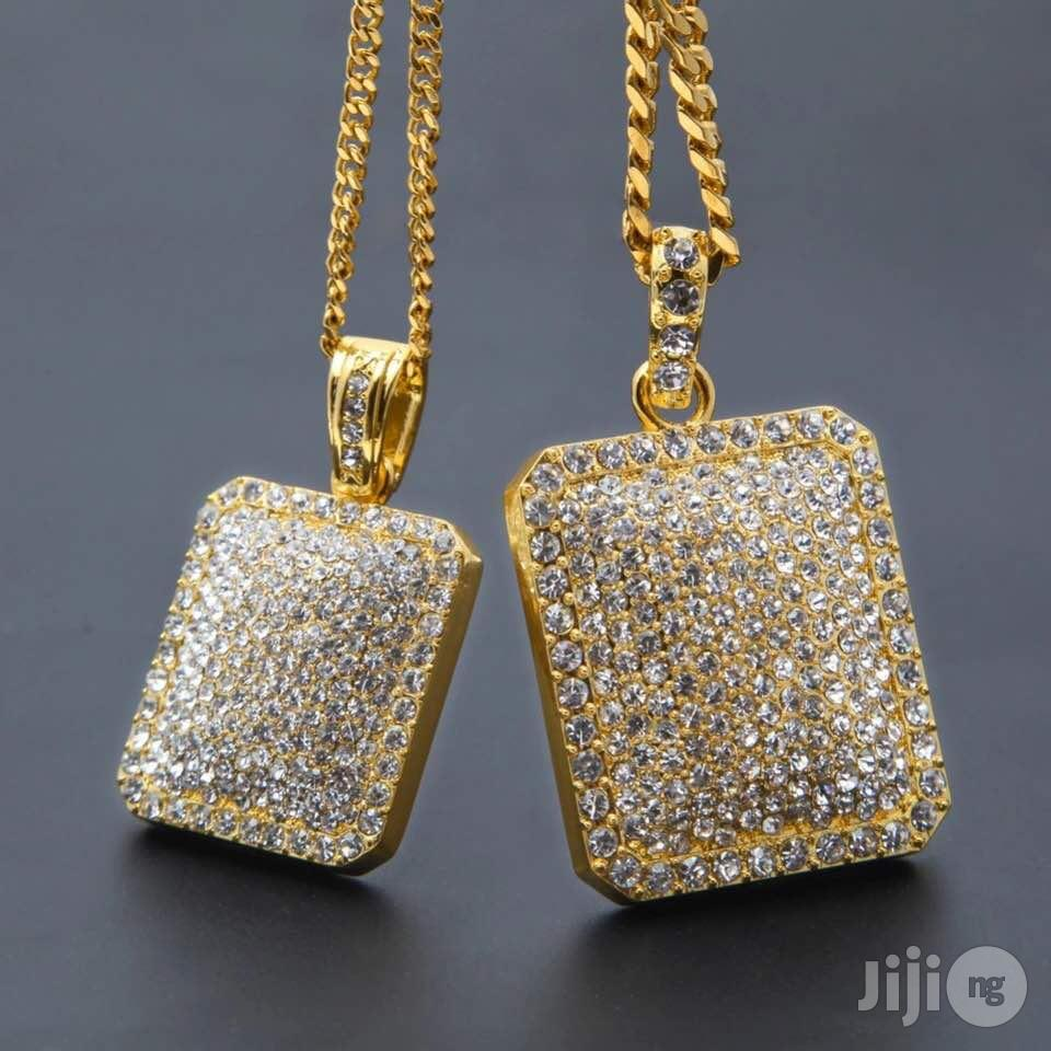 Main Original Iced Stones CUBAN Neck & Hand Chain With Ring | Jewelry for sale in Lagos Island (Eko), Lagos State, Nigeria