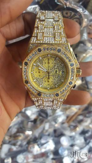 AP Iced Out Automatic Watch - Gold, Silver And Rose Gold | Watches for sale in Lagos State, Surulere