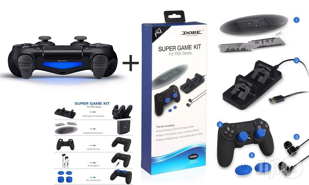PS4 Pad - Playstation 4 Dualshock 4 Wireless - Black + Super Game Kit
