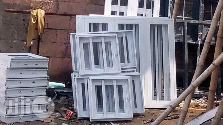 Aluminium Window And Installation   Windows for sale in Ikeja, Lagos State, Nigeria