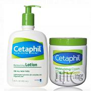 Cetaphil Moisturizing Cream For Dry Sensitive Skin (566g) & Moisturizing Lotion 591ml | Bath & Body for sale in Lagos State, Ojo