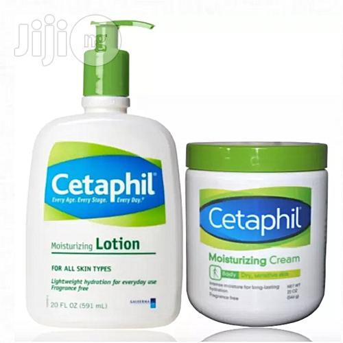 Cetaphil Moisturizing Cream For Dry Sensitive Skin (566g) & Moisturizing Lotion 591ml