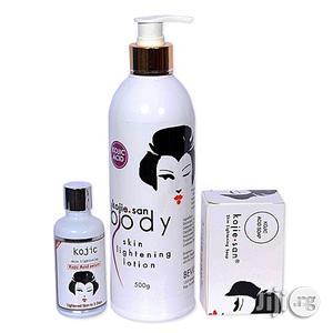 Kojic Kojie.San Body Skin Lightening Lotion +Kojic Acid Serum&Soap | Bath & Body for sale in Lagos State, Ojo
