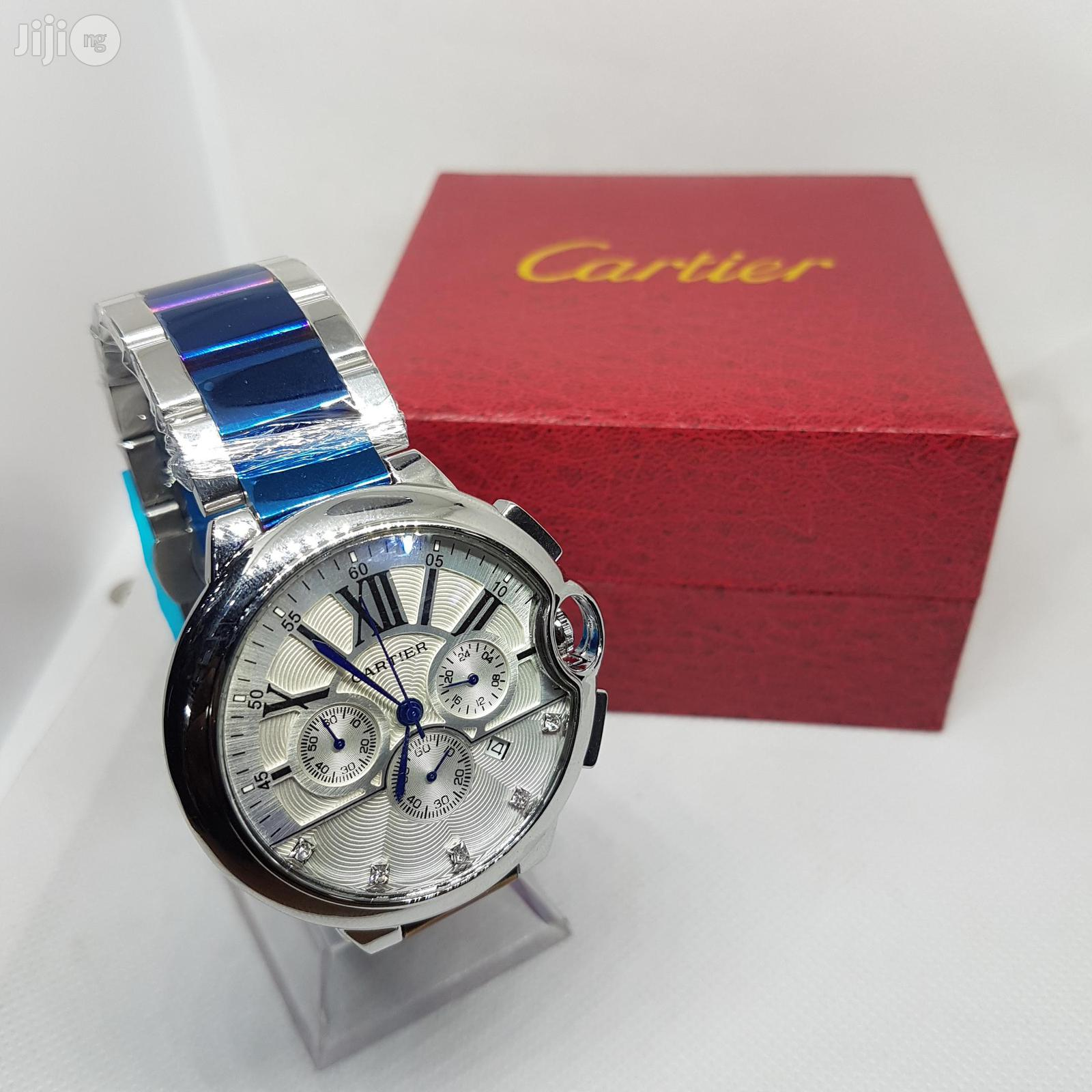 Main Original Cartier Wristwatch With Chronograph and Date. | Watches for sale in Lagos Island (Eko), Lagos State, Nigeria