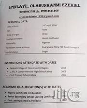 Teaching Job   Teaching CVs for sale in Niger State, Kontagora