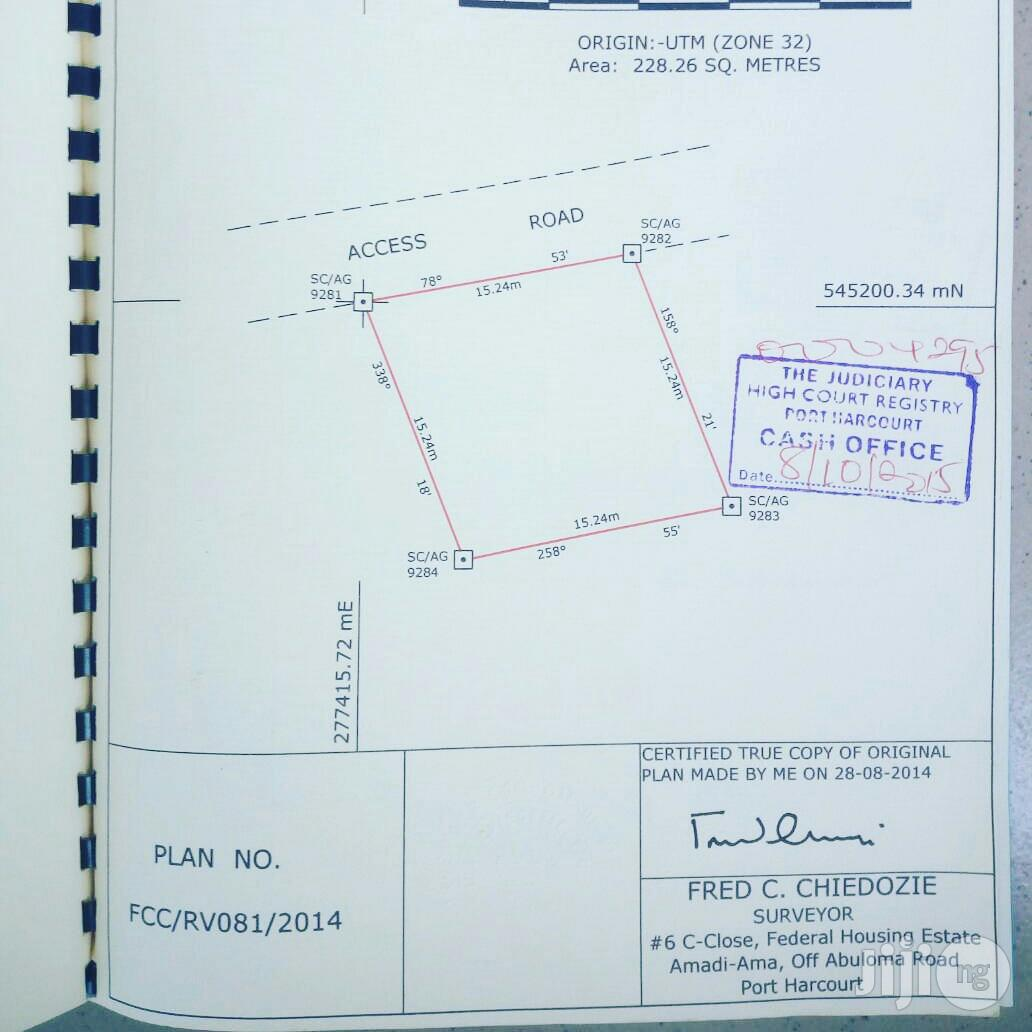 For Sale: Half Plot of Land at Rukpokwu Town, Port Harcourt