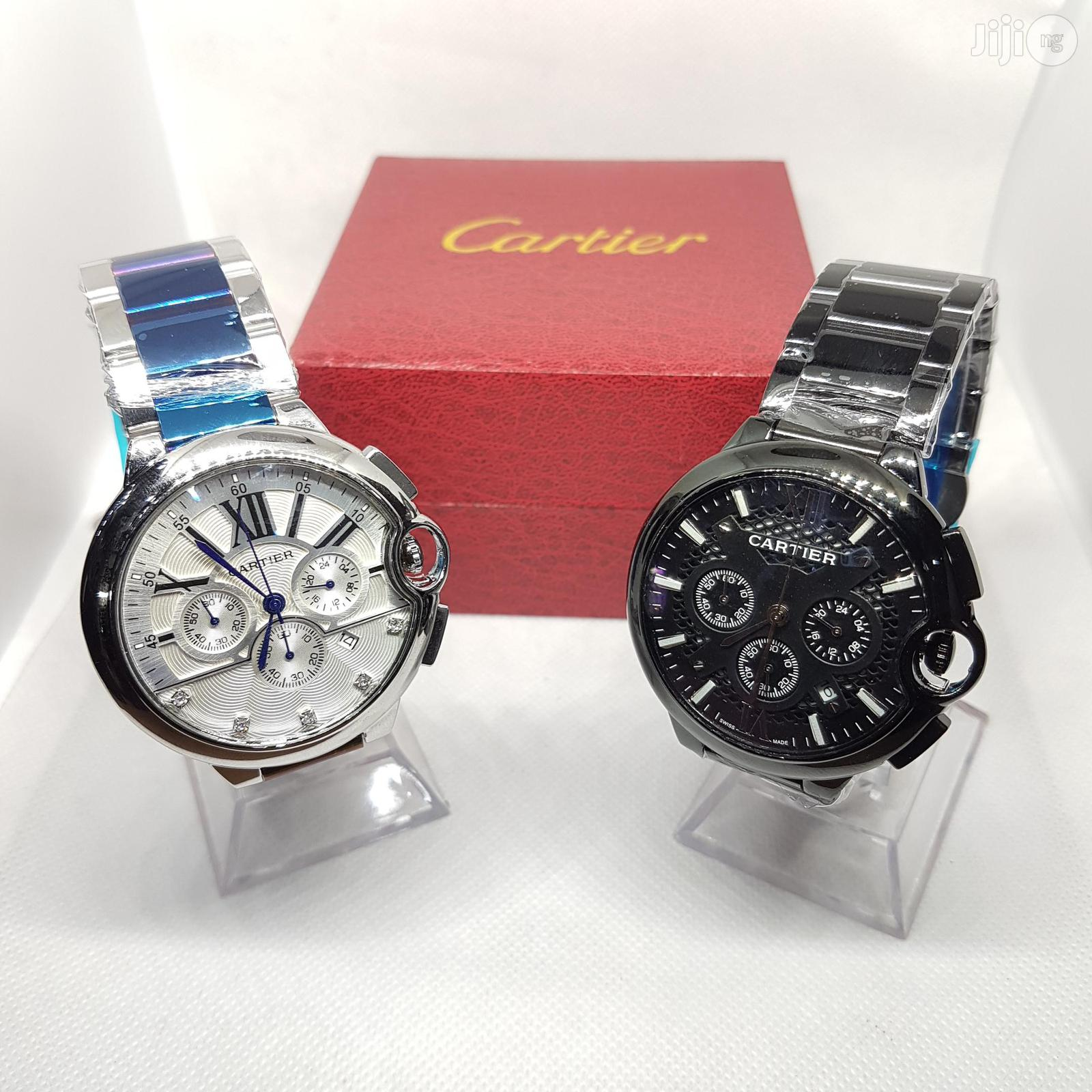 Main Original Cartier Wristwatch With Chronograph and Date.