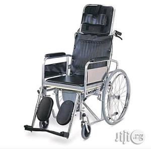 Collapssible Orthopedic Commode Wheelchair | Medical Supplies & Equipment for sale in Lagos State, Mushin