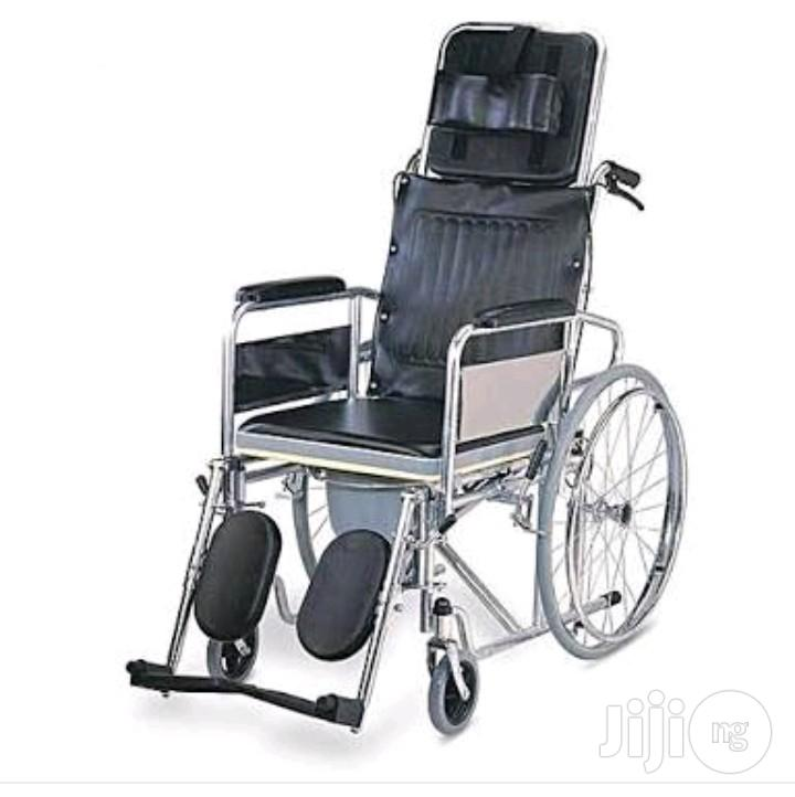 Collapssible Orthopedic Commode Wheelchair