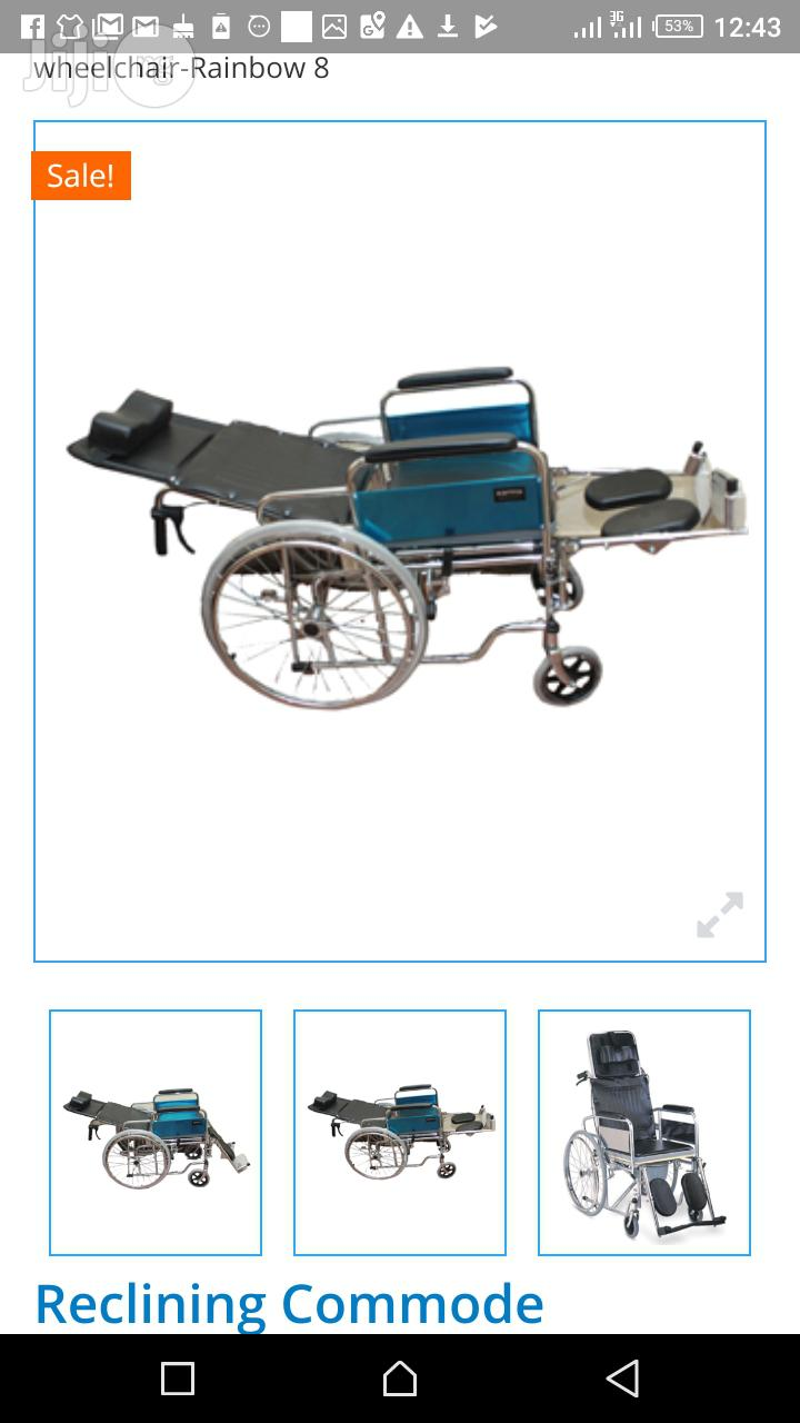 Collapssible Orthopedic Commode Wheelchair | Medical Supplies & Equipment for sale in Mushin, Lagos State, Nigeria