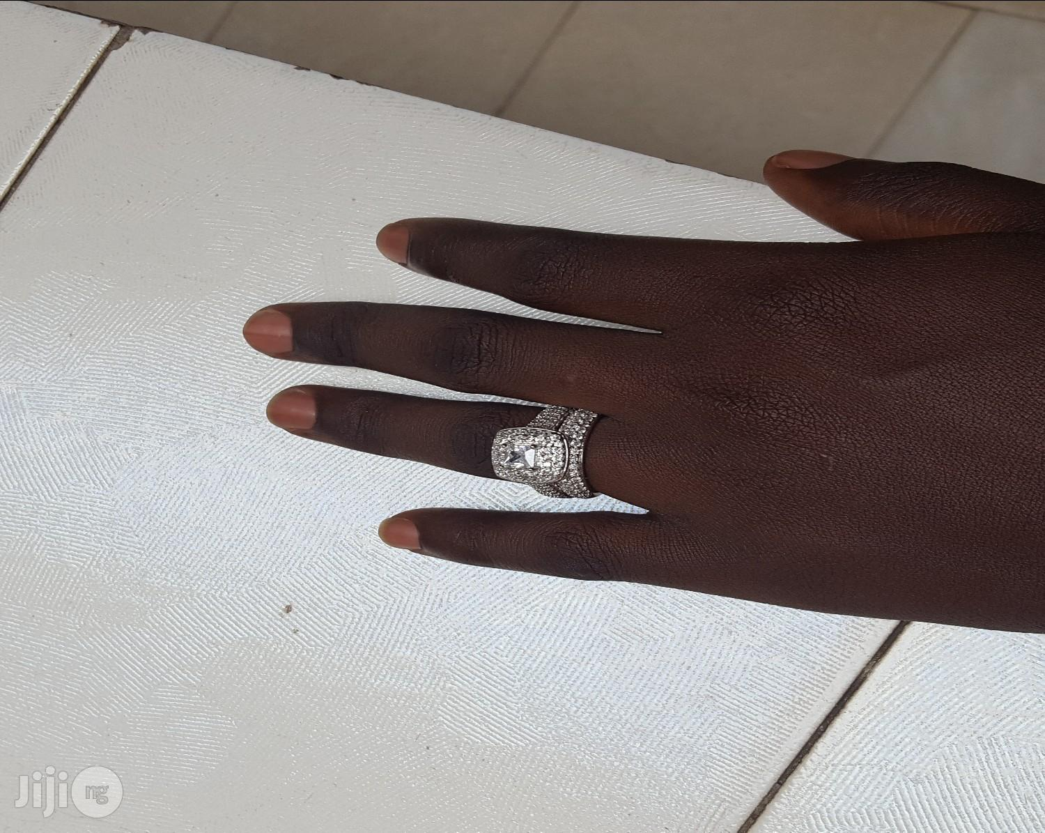 Bridal Ring Set 14KT White Goldfilled on Sales! | Wedding Wear & Accessories for sale in Kubwa, Abuja (FCT) State, Nigeria