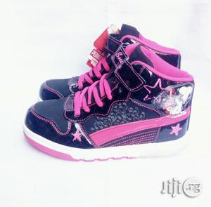 Black and Pink High Top Sneakers | Children's Shoes for sale in Lagos State, Lagos Island (Eko)