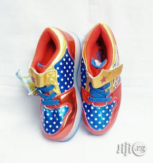 Red and Gold Canvas   Children's Shoes for sale in Lagos State, Lagos Island (Eko)
