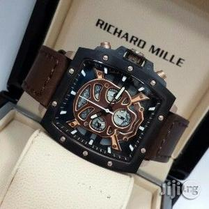 Richard Mille Chronograph Men Wristwatch Brown | Watches for sale in Lagos State, Oshodi