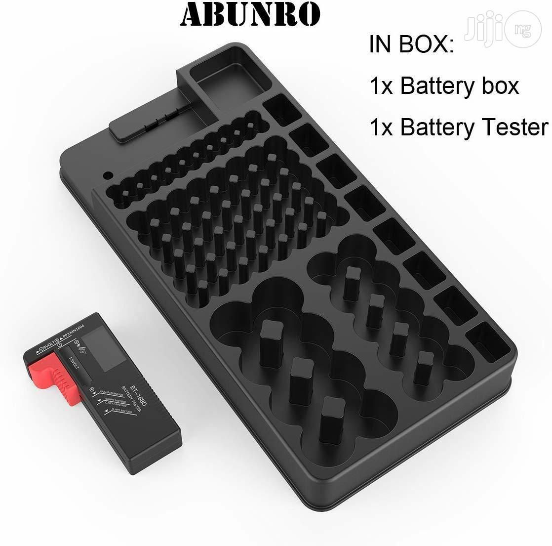 USA Abunro Battery Tester And Battery Storage Organizer Case