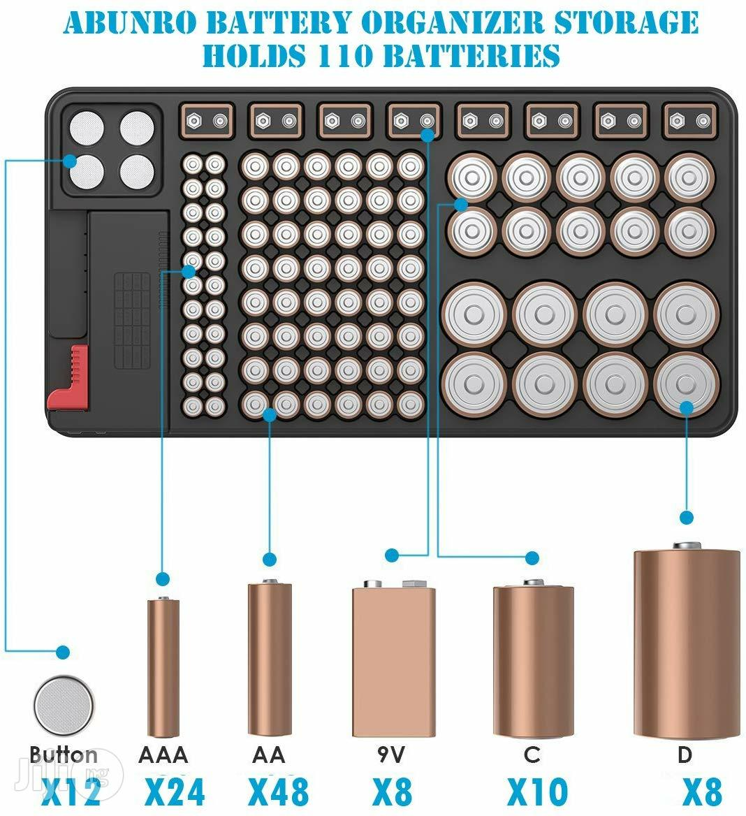 USA Abunro Battery Tester And Battery Storage Organizer Case | Measuring & Layout Tools for sale in Alimosho, Lagos State, Nigeria